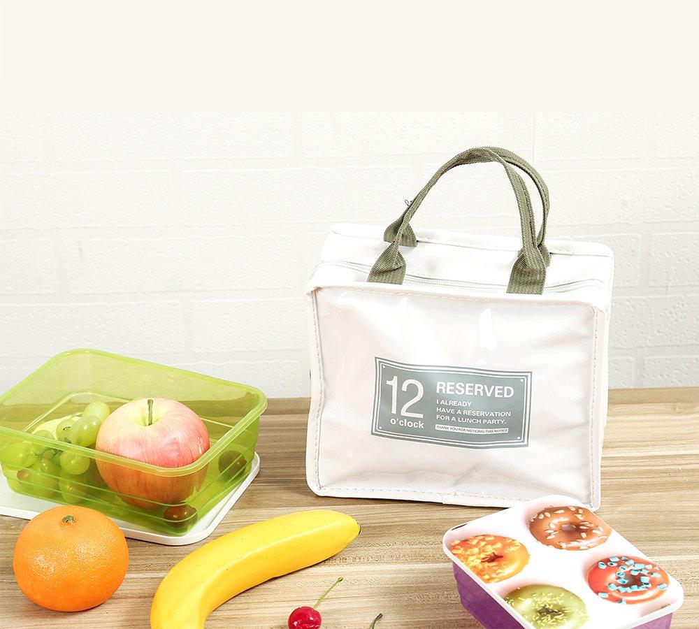 iSuperb Borsa Termica Adulto Porta Pranzo Lunch Bag con Cerniera per Donna,Uomo e Ufficio 22x13x18.5cm nero