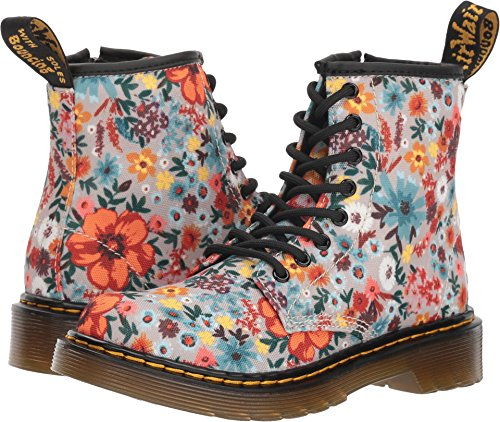 Dr. Martens - Girls 1460 Wanderflower J Juniors Lace Boot, Size: 13 M US Little Kid / 12 F(M) UK Youth, Color: Taupe Wander T Canvas for $<!--$60.00-->