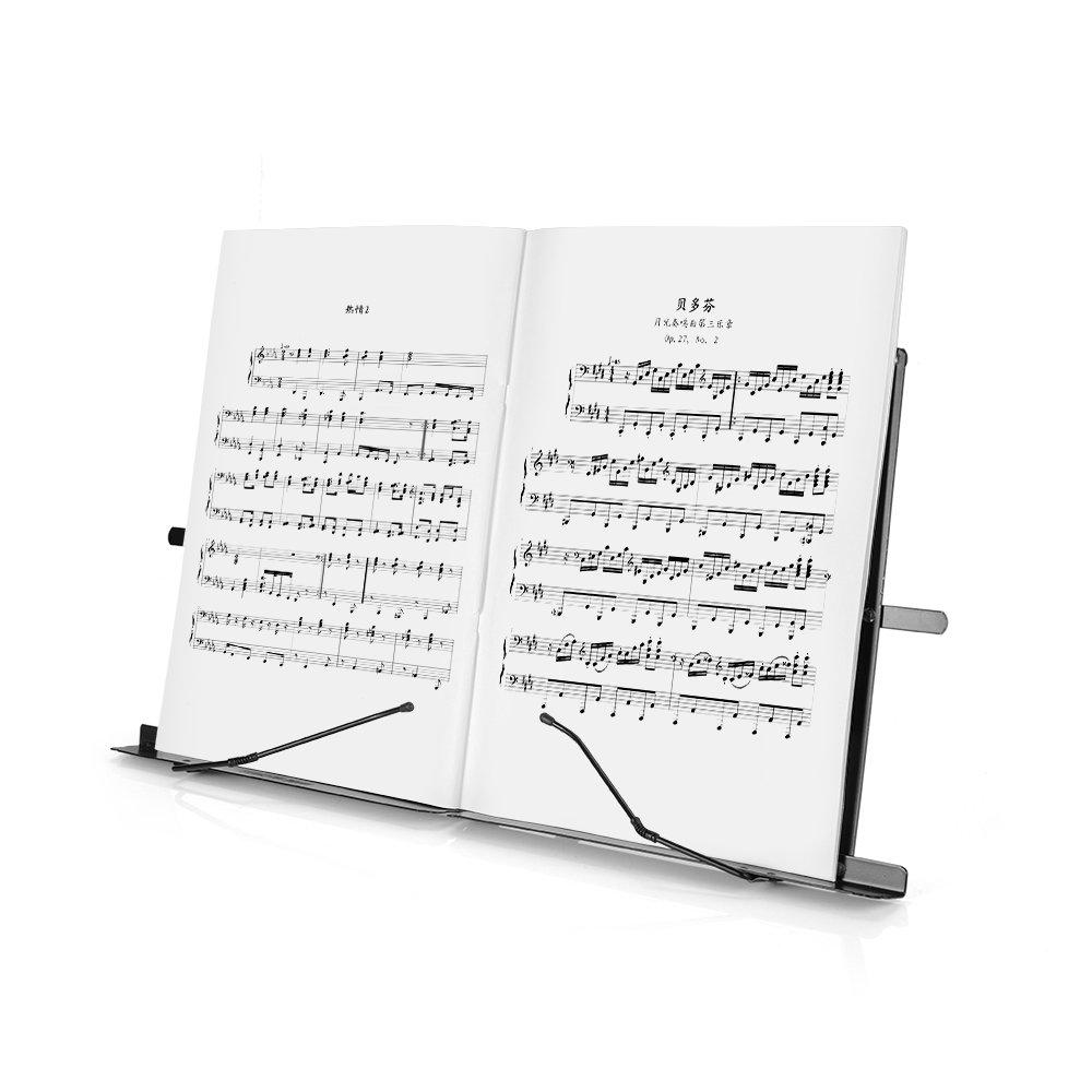 Lightwish - Black Metal Sheet Portable Adjustable Music Stand Music Holder Folding Foldable by Lightwish (Image #5)