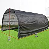 Strong Camel 80% Sunblock Shade Cloth GreenHouse Walk-In BLACK Greenhouse Outdoor Plant Gardening (20'X10'X7')