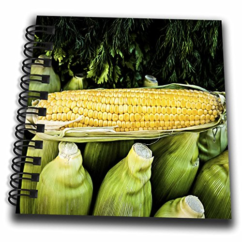 3dRose Alexis Photography - Food - Corn cobs and green vegetables - Mini Notepad 4 x 4 inch (db_270908_3)