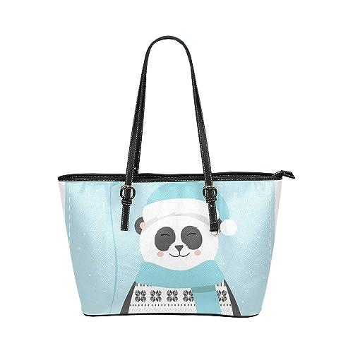 Panda China En Invierno Nieve Gran Piel Portátil Mango ...
