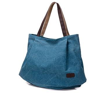 a1bcbb7cd Lienzo Tote Bolsa Para La escuela Trabajo Viajes Y Shopping Simple Vintage  Bolso de mano Bolsa de hombro Shopper Hobo Bolsa Para Mujeres Chicas:  Amazon.es: ...
