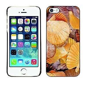 Cubierta de la caja de protección la piel dura para el Apple iPhone 5 / 5S - romantic seaside sea biology