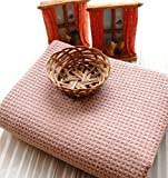 Ultra Absorbent *Waffle Weave* Microfiber Bath Towel in Coffee (29 X 55 Inches)