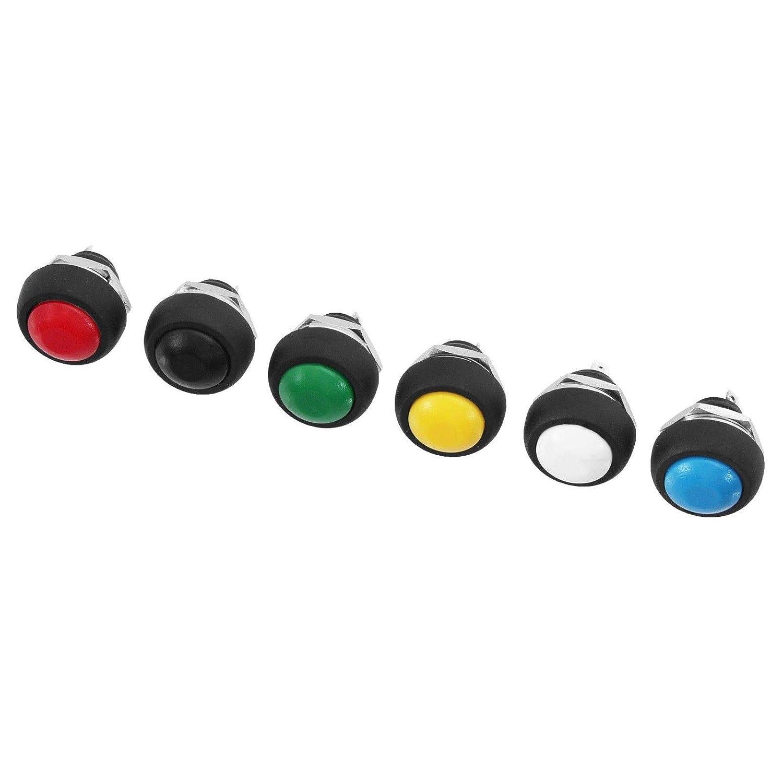 Einbau Taster Drucktaster in 6 Farben ausw/ählbar 1x EIN Blau