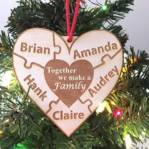 Together We Make A Family Personalized Heart Ornament -