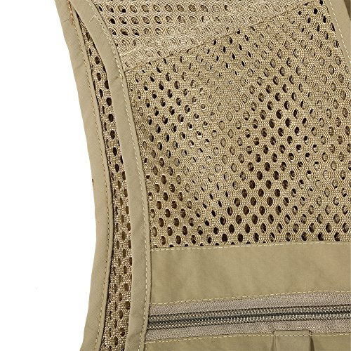 Gilet da pesca da uomo traspirante Quick Dry Mesh Vest Outdoor Photografia Gilet