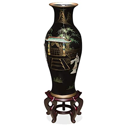 Amazon Chinafurnitureonline Tall Porcelain Vase With Mother Of