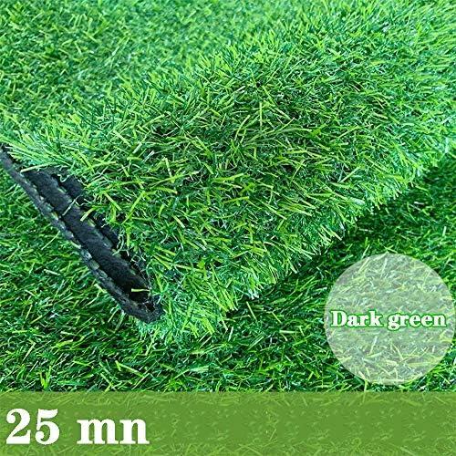 GAPING 人工芝人工芝は、ペットに無害で無害な密度を増加させ、柔らかくて紫外線に強い25mmの高さ、3色から選択できます (Color : Dark green, Size : 2x4m)