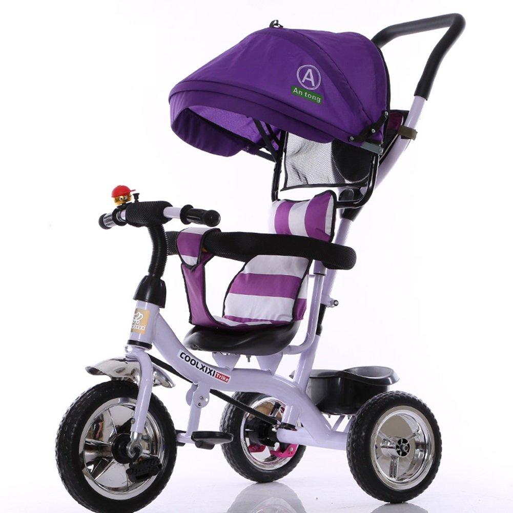 XQ 子供 三輪車 1-3-5歳 赤ちゃん トロリー 子ども用自転車 ( 色 : パープル ぱ゜ぷる ) B07CCKP75B パープル ぱ゜ぷる パープル ぱ゜ぷる
