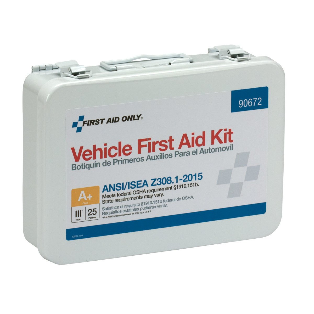 PacKit by First Aid Only 90672 25 Person ANSI A Vehicle First Aid Kit Metal Weatherproof