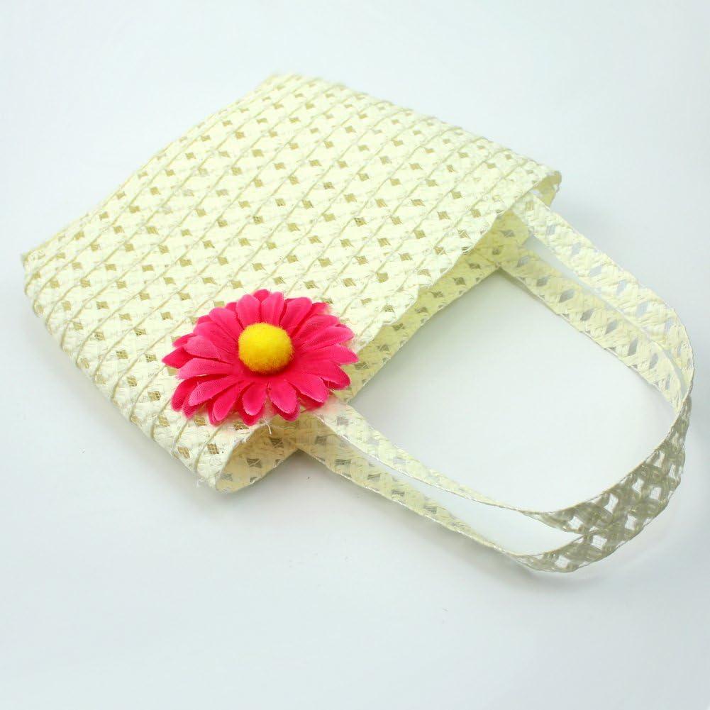 Lovely Charme Princess Strohhalm Baby M/ädchen Sonnenhut Sommer Blume Cap und Handtasche