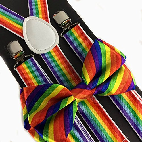 4everstore Unisex's Bow Tie & Suspender Sets (Costume Suspenders)