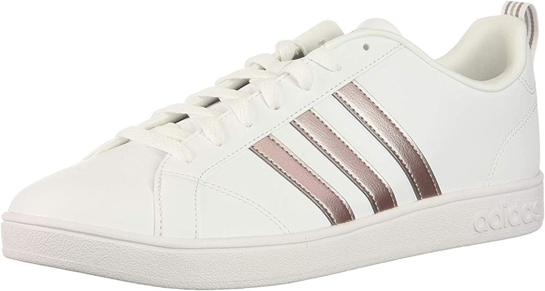 adidas Performance Women's Vs Advantage Sneaker (9.5, White/Silver  Metallic/White)