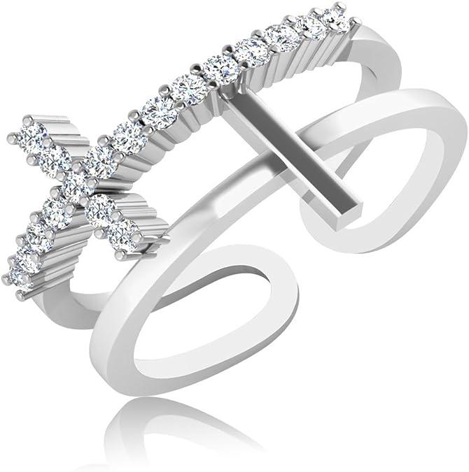 IskiUski 14KT White Gold and Diamond Ring for Women Rings