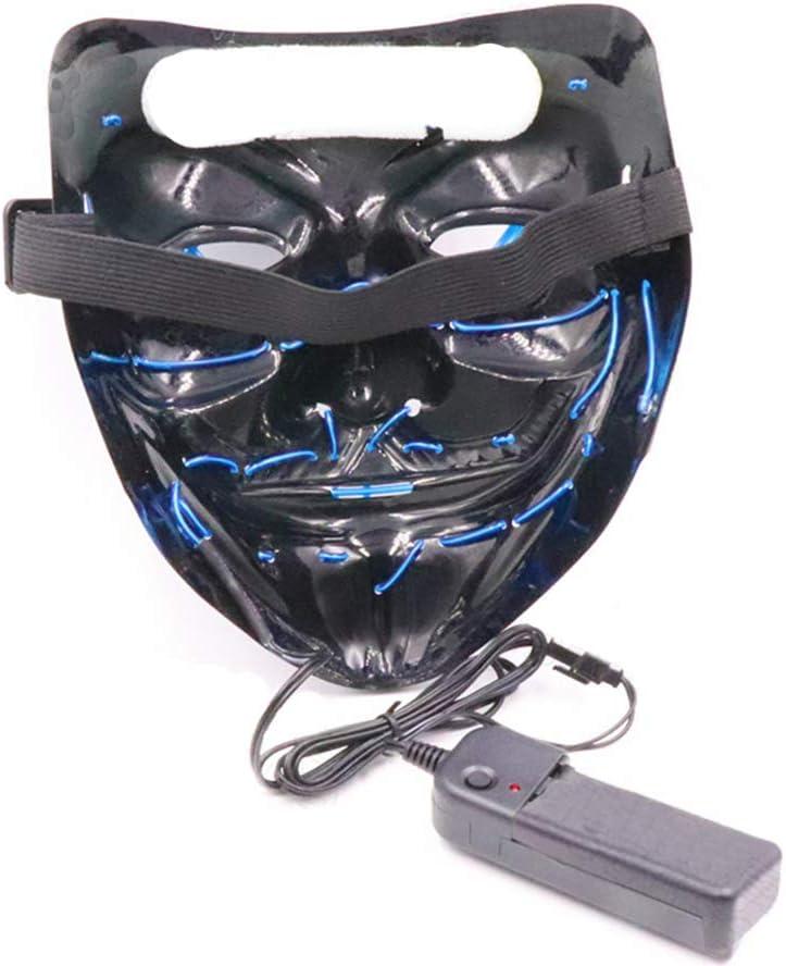 Halloween LED Purge Mask Halloween Glowing Masks Cosplay D/&F LED Mask