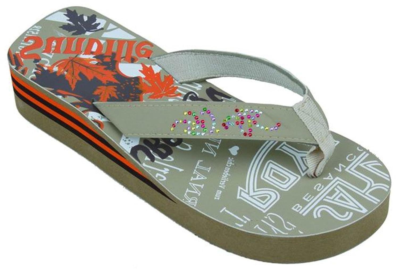 Startbay Beach Fashion Women's Rhinestones & Design Platform Flip Flops Wedge Thong Sandals
