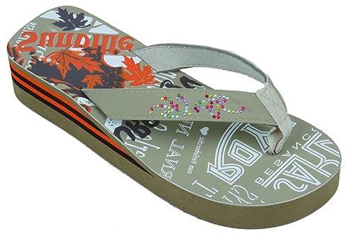 df8ba0b81 Startbay Beach Fashion Women s Rhinestones   Design Platform Flip Flops  Wedge Thong Sandals ...