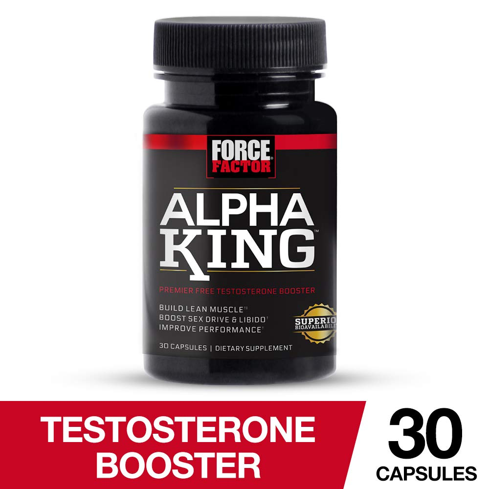 Amazon com: Force Factor Alpha King Testosterone Booster, Increase