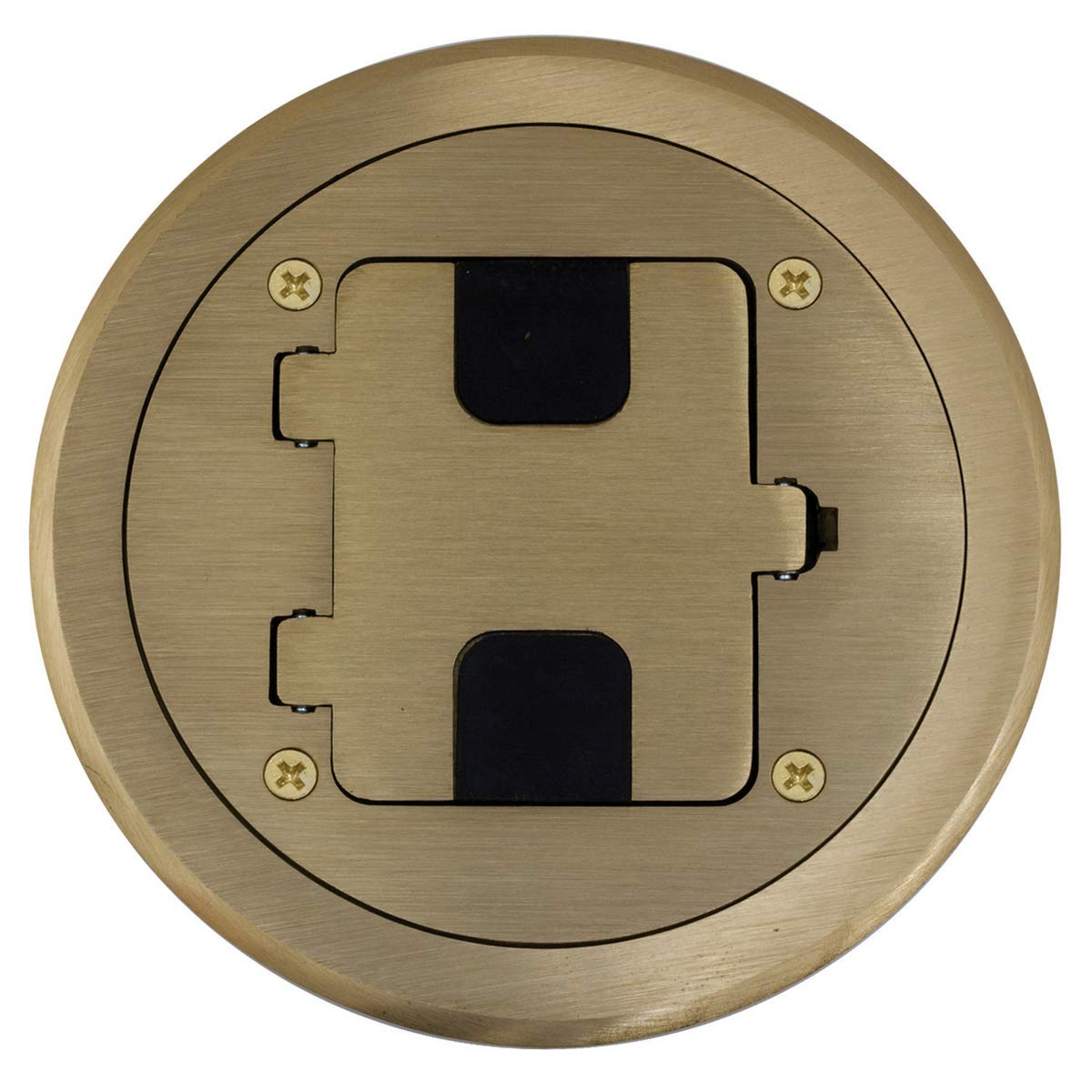 Bryant Electric RF406BR Floor Box Kit, Brass by Bryant Electric