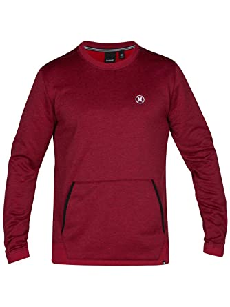 Hurley Dri Fit Disperse Crew - Sudadera para hombre, talla M, color NIGHT MAROON: Amazon.es: Ropa y accesorios