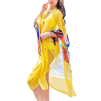 9006316040402 Robe de Plage 140x190cm Scarf Women Beach Sarongs Beach Cover Up Summer  Chiffon Scarves Geometrical Design Plus Size Towel Color Color A Size One  Size: ...