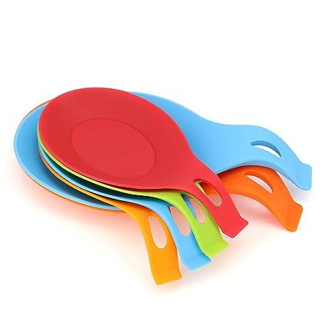 Amazon.com: Juego de 6 cucharas de silicona resistentes al ...
