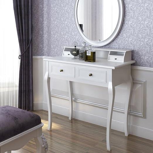 Soulong Table De Maquillage Table Cosmetique Meuble De