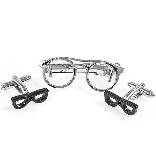 Amazon.com: mrcuff Eyeglass anteojos Par de gemelos y Tie ...