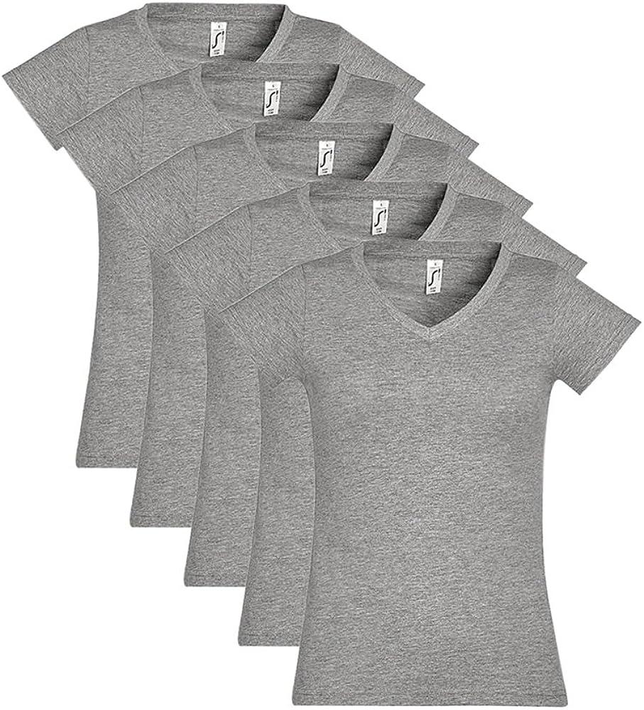 SOL'S - Camiseta - Básico - para Mujer Blanco S