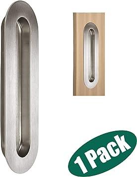 Probrico Acero Inoxidable Puerta Corredera Gabinete empotrada Flush tirador ovalado, (6,8 cm de largo: Amazon.es: Bricolaje y herramientas