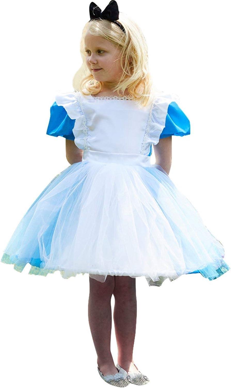 Travis by desings- Alicia Azul con Diadema 6-8 años Disfraz, Color ...