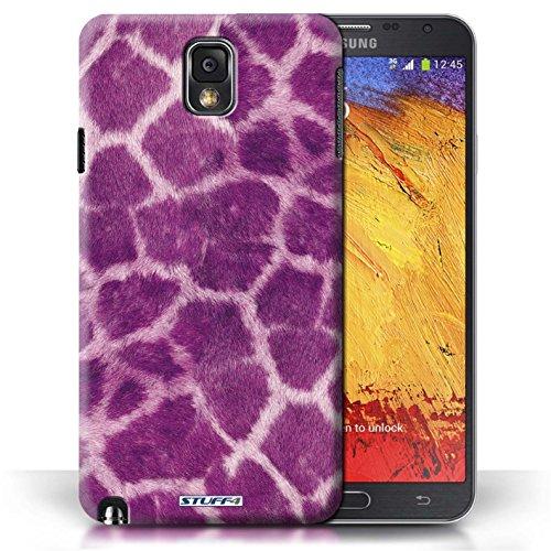 Etui / Coque pour Samsung Galaxy Note 3 / Pourpre conception / Collection de Girafe animale Peau/Motif
