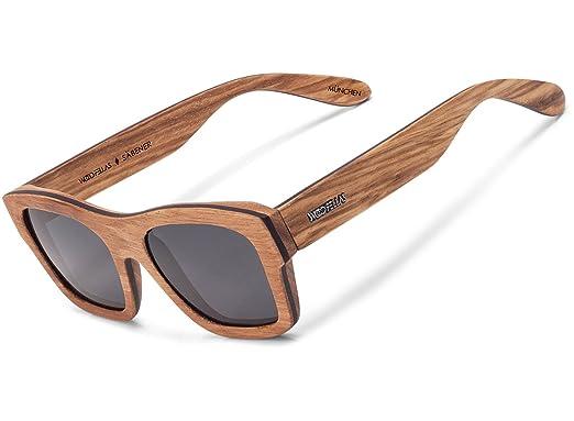 Wood Fellas Unisex Holz-Sonnenbrille Viktualien Braun One mit polarisierenden Gläsern in verschiedenen Farben c74AicU