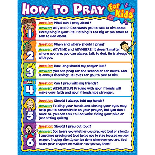 Carson Dellosa Christian How to Pray for Kids Chart (6365)