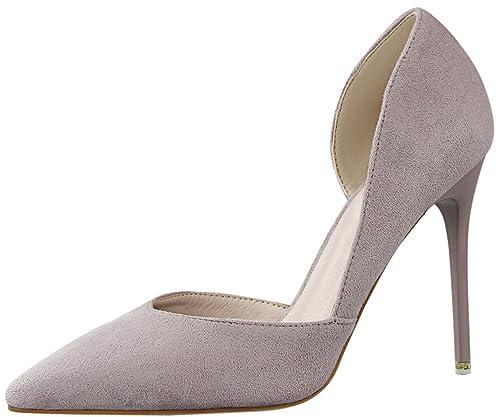 De Pointed Zapatos Mujer Tacones Elegante Toe Altos D'orsay Tacón qYtg1