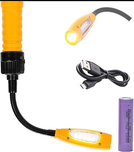 COB LED Luz de trabajo Antorchas Linternas Li-Ion Recargable Carga USB Sin cable