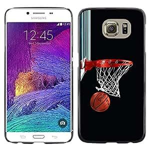 Baloncesto neto del aro - Metal de aluminio y de plástico duro Caja del teléfono - Negro - Samsung Galaxy S6