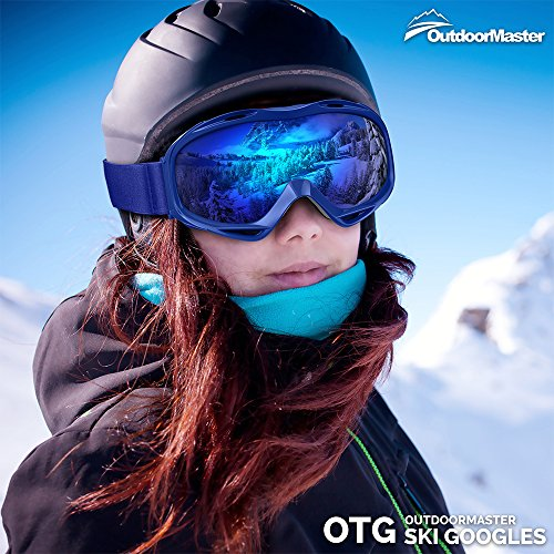 61ejCnksN3L - OutdoorMaster OTG Ski Goggles - Over Glasses Ski / Snowboard Goggles for Men, Women & Youth - 100% UV Protection