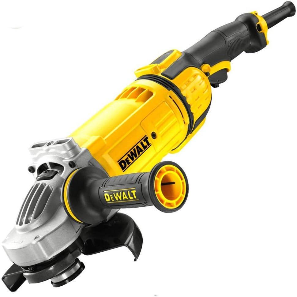 Dewalt DWE4597-QS Amoladora 180 mm 2.600W 8.500 rpm, Negro y amarillo, Set de 2 Piezas