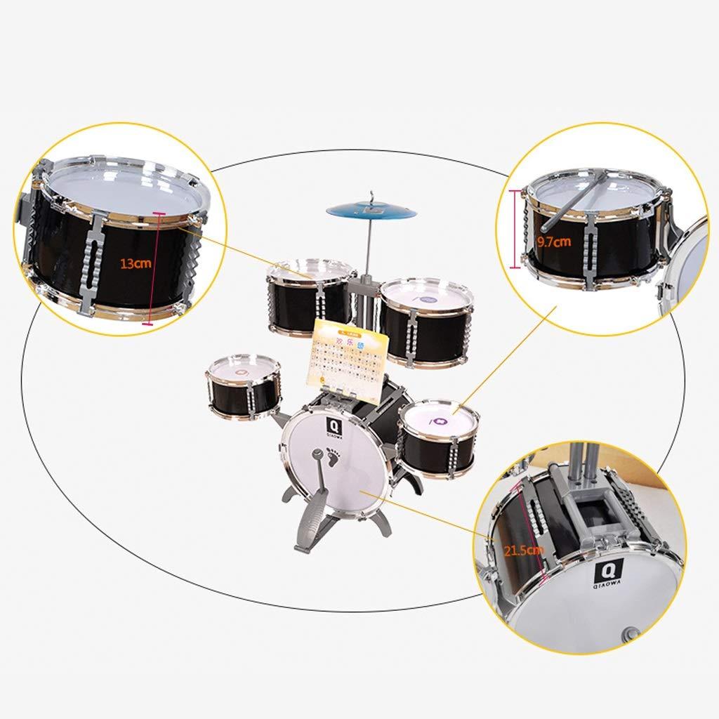 Couleur : NOIR LIUFS-Tambour Drum Puzzle Drum Music Toy Instrument /À Percussion /Éducation De La Petite Enfance Cadeau Danniversaire