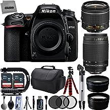 Nikon D7500 20.9MP 4K DSLR Camera w/ 4 Lens - 18 to 300mm - 64GB - 30PC Kit - Nikon 18-55VR + Nikon 70-300G + Opteka 2.2x Telephoto Lens + Opteka 0.43x Wide/Macro Lens
