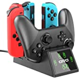 OIVO Controller Charging Dock Compatible with Nintendo Switch, Joy-Cons and Pro Controller Charger with LED Indicators…