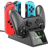 OIVO Controller Charging Dock for Nintendo Switch, Joy-Cons and Pro Controller Charger…