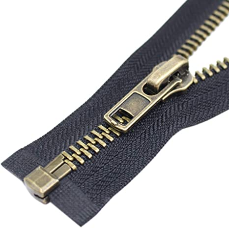 #10 26 Inch Zippers for Jackets Sewing Coats Crafts Silver Separating Jacket Zipper Metal Zipper Heavy Duty Leekayer 26 Silver