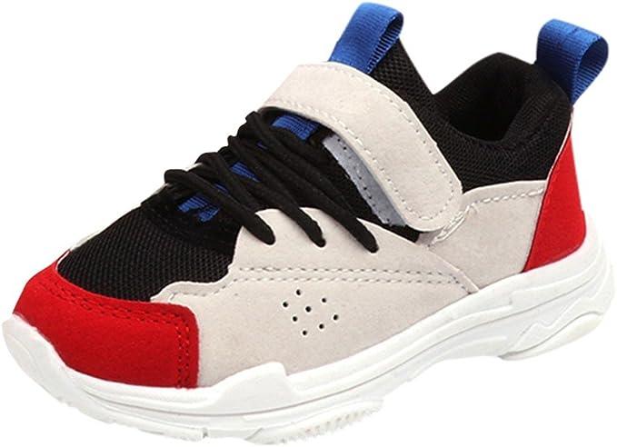 YanHoo Zapatos para niños Zapatillas de Deporte de Terciopelo Antideslizante para niños de Color Contraste Casuales Colores Mezclados Deporte Estilo de Correr Zapatilla de Deporte Zapatos Ocasionales: Amazon.es: Ropa y accesorios