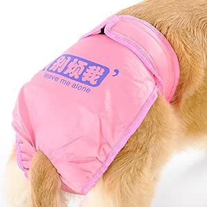 talla L rosa UEETEK Perro reutilizable pa/ñales sanitarios pantalones con vientre bandas ropa interior Underpant Midium perras gran cachorro