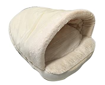 Icegrey Cama para Perro y Gatos Acolchada Casa Mascotas Cama Saco de Dormir Cojin Cálido para Cachorro Perrito Gato 54x40x30cm Blanco: Amazon.es: Hogar