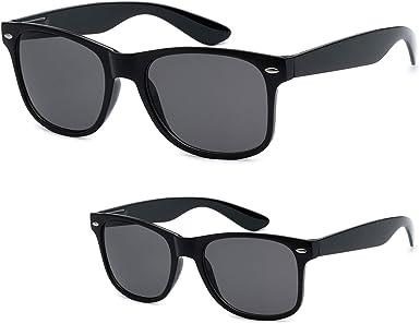 Premium Flex-Fit Unisex 2-Pack Parent and Kiddo Matching Retro Sunglasses